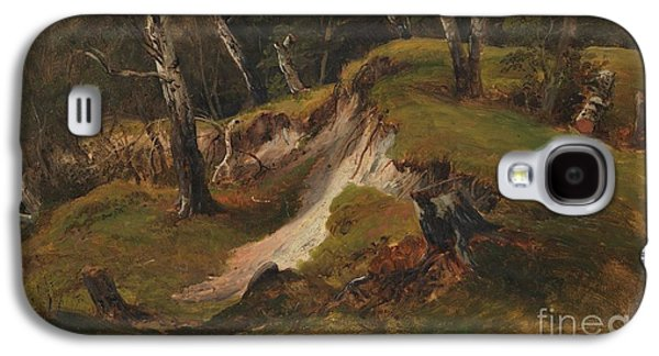 Escarpment With Tree Stumps Galaxy S4 Case by Celestial Images
