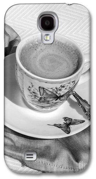 Espresso In Butterfly Cup In Black And White Galaxy S4 Case by Iris Richardson