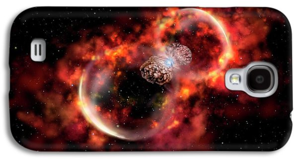 Eta Carinae Outburst Galaxy S4 Case by Gemini Observatory Artwork By Lynette Cook