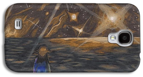 Etestska Lying On Pluto Galaxy S4 Case