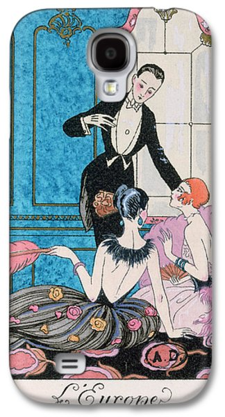 'europe' Illustration For A Calendar For 1921 Galaxy S4 Case by Georges Barbier