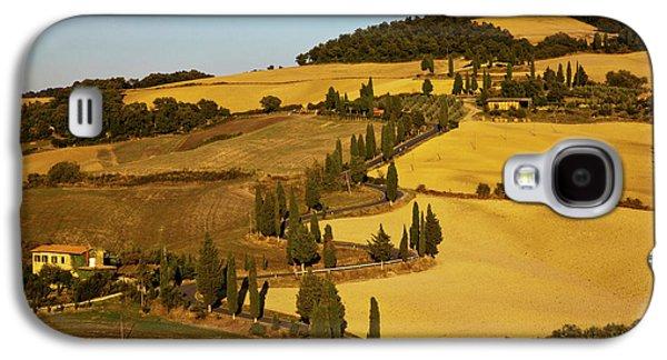 Europe, Italy, Tuscany, Zig Zag Road Galaxy S4 Case