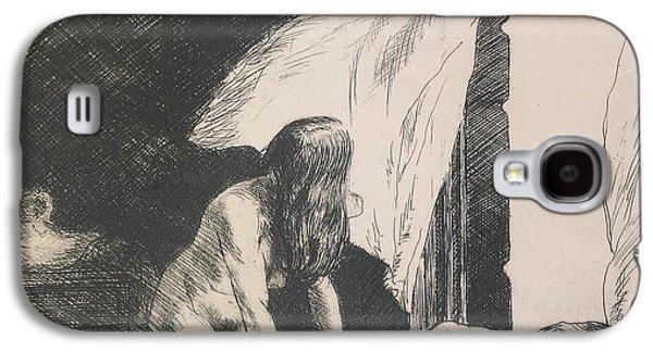 Evening Wind Galaxy S4 Case by Edward Hopper
