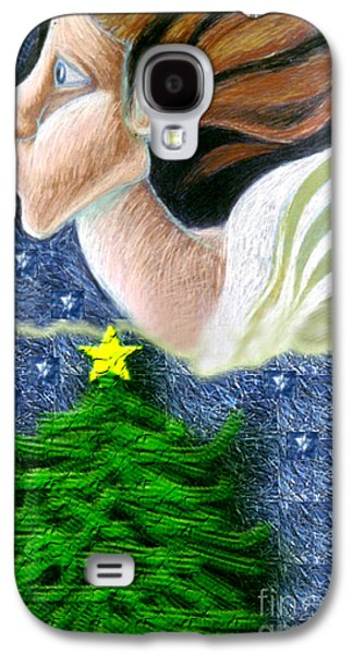 Everseeing Christmas Angel Galaxy S4 Case by Genevieve Esson