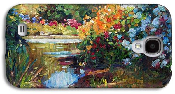 Exbury Spring Lake Galaxy S4 Case by David Lloyd Glover