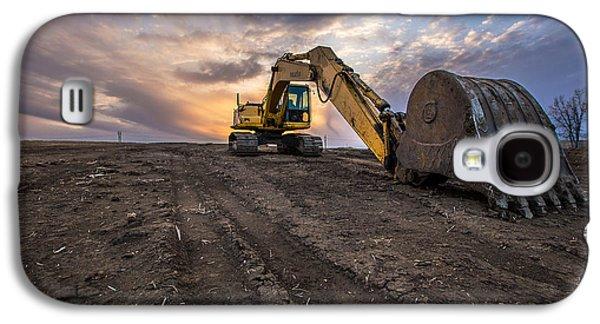 Excavator Galaxy S4 Case by Aaron J Groen