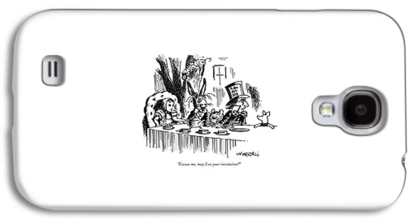 Excuse Me, May I See Your Invitation? Galaxy S4 Case by Henry Martin
