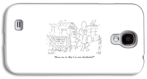 Excuse Me, Sir.  May I See Some Identification? Galaxy S4 Case by Arnie Levin
