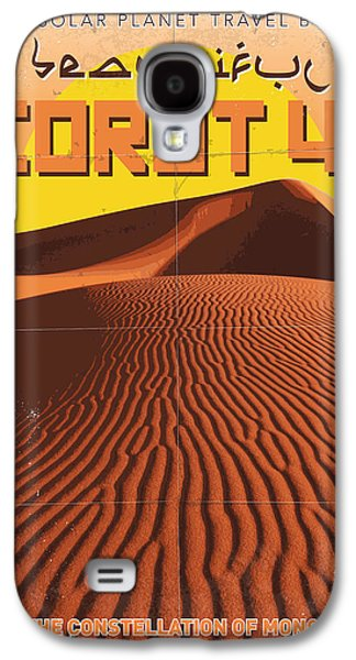 Exoplanet 05 Travel Poster Corot 4 Galaxy S4 Case by Chungkong Art