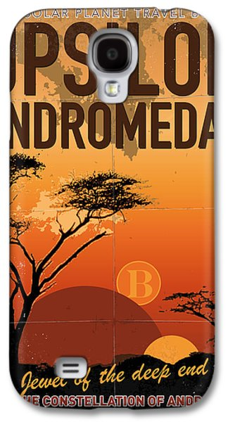 Exoplanet 06 Travel Poster Upsilon Andromedae 4 Galaxy S4 Case by Chungkong Art