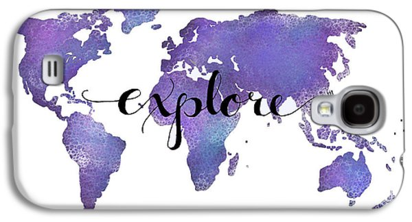 Travel Galaxy S4 Case - Explore World Map Painting by Michelle Eshleman