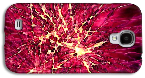 4th July Mixed Media Galaxy S4 Cases - Explosion Galaxy S4 Case by Stephanie Hollingsworth
