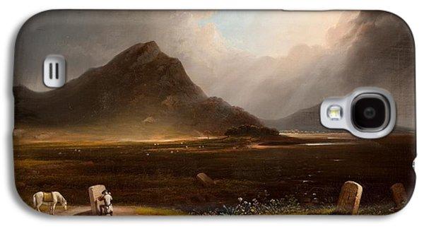 Extensive Landscape With Stonemason Galaxy S4 Case by Daniel M. Mackenzie