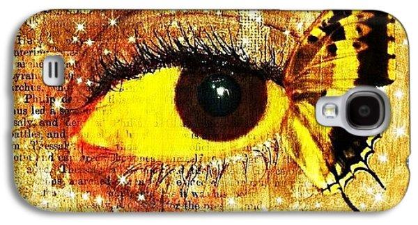 Edit Galaxy S4 Case - #eye #butterfly #brown #black #edit by Tatyanna Spears
