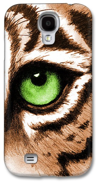 Eye Of The Tiger Galaxy S4 Case by Michelle Eshleman