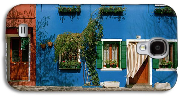 Facade Of Houses, Burano, Veneto, Italy Galaxy S4 Case by Panoramic Images