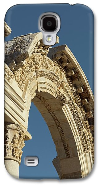 Facade Of The Temple Of Hadrian Galaxy S4 Case by David Parker