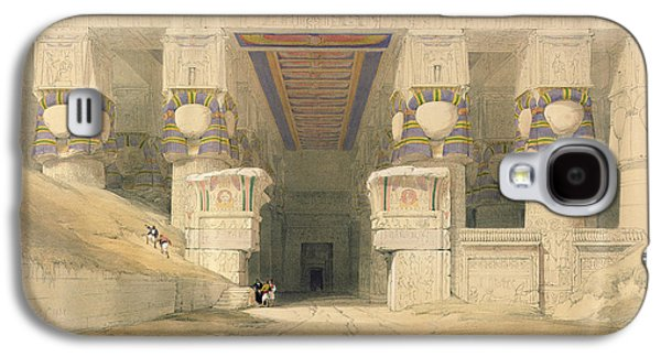 Facade Of The Temple Of Hathor, Dendarah, From Egypt And Nubia, Engraved By Louis Haghe 1806-85 Galaxy S4 Case
