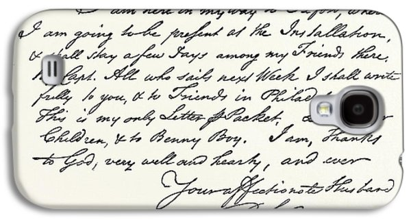 Facsimile Of A Letter From Benjamin Franklin Galaxy S4 Case by English School