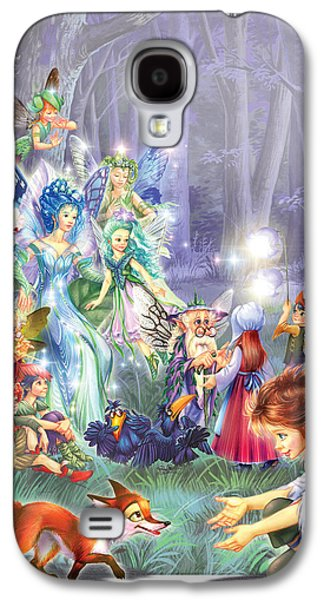 Fairy Princess Gathering Galaxy S4 Case by Zorina Baldescu
