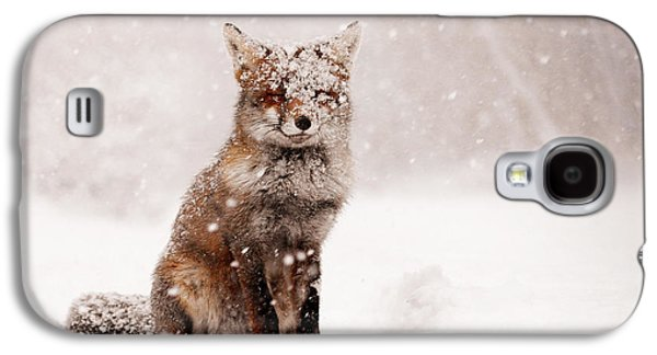 Fairytale Fox _ Red Fox In A Snow Storm Galaxy S4 Case by Roeselien Raimond