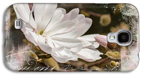 Faith Love And Hope - Flower Art Galaxy S4 Case by Jordan Blackstone