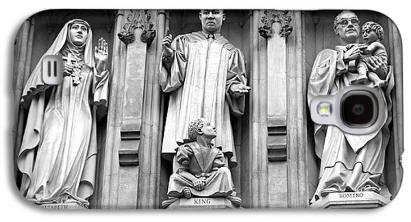Faithful Witnesses -- Martin Luther King Jr Remembered With Bishop Romero And Duchess Elizabeth Galaxy S4 Case by Stephen Stookey