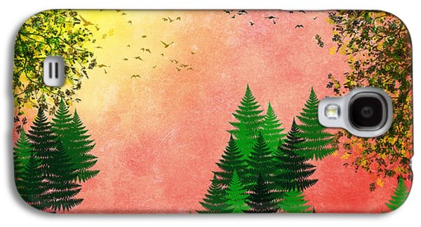 Fall Autumn Four Seasons Art Series Galaxy S4 Case by Christina Rollo