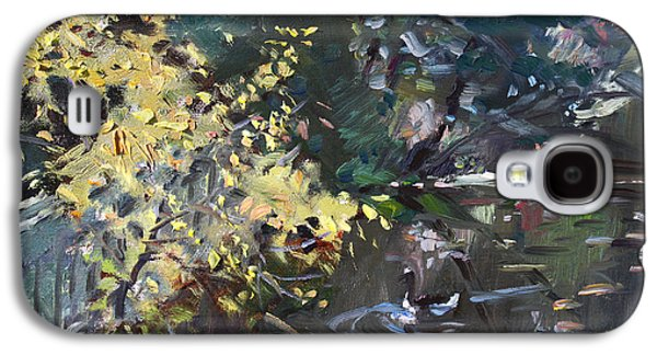 Geese Galaxy S4 Case - Fall By The Pond by Ylli Haruni