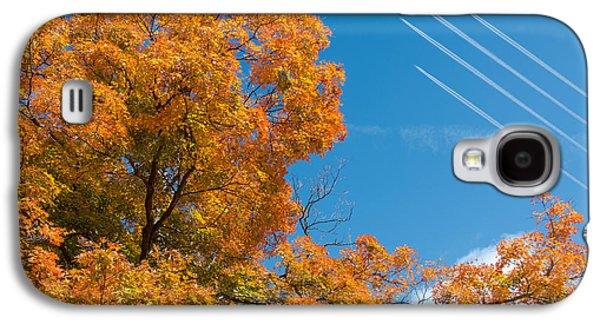 Fall Foliage With Jet Planes Galaxy S4 Case by Tom Mc Nemar