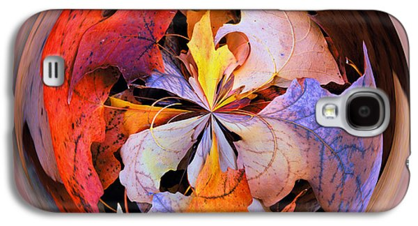 Fall Leaves Orb Galaxy S4 Case by Bill Barber