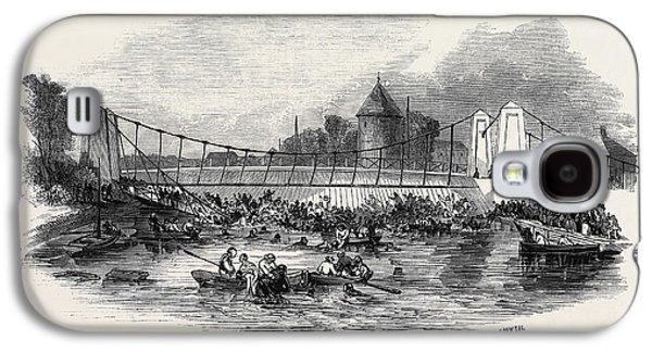 Fall Of The Suspension Bridge, At New Yarmouth Galaxy S4 Case by English School
