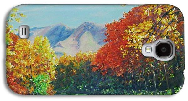 Fall Scene - Mountain Drive Galaxy S4 Case