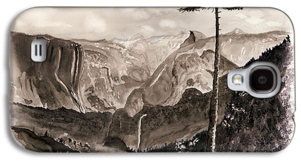 Falls Of The Yosemite Painting Galaxy S4 Case by Warren Thompson