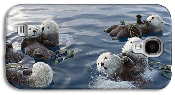 Otter Galaxy S4 Case - Family Fun by Gary Hanna
