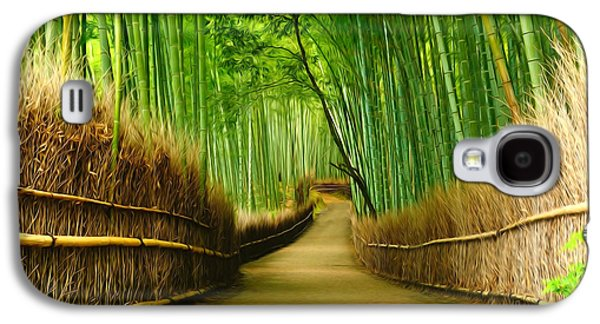 Famous Bamboo Grove At Arashiyama Galaxy S4 Case by Lanjee Chee