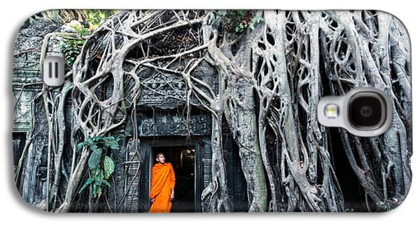 Famous Big Tree Inside Ta Phrom Temple - Angkor - Cambodia Galaxy S4 Case by Matteo Colombo