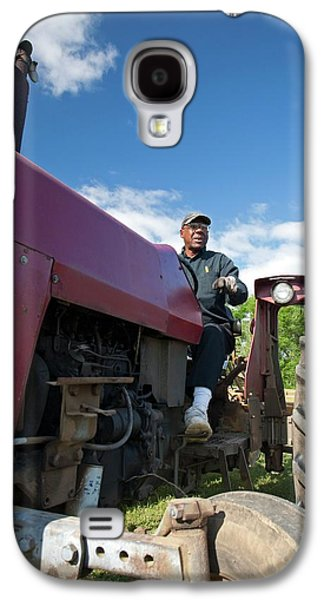 Farmer On A Tractor Galaxy S4 Case by Jim West