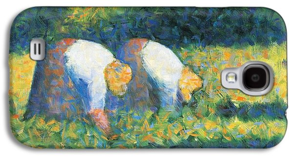 Farmers At Work Galaxy S4 Case by Georges Seurat