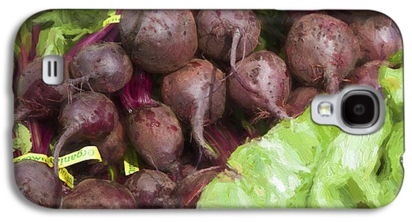 Farmers Market Beets And Greens Square Galaxy S4 Case by Carol Leigh