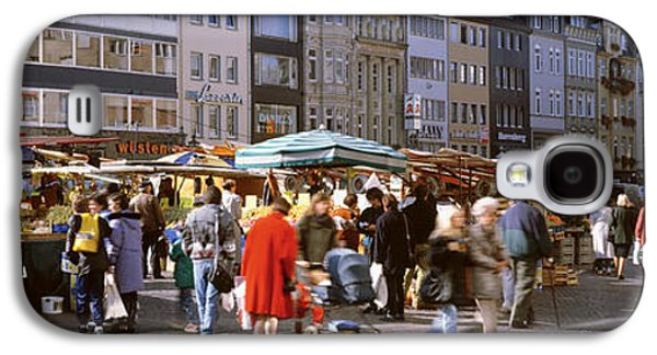 Farmers Market, Bonn, Germany Galaxy S4 Case by Panoramic Images
