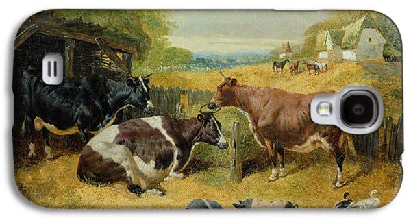 Farmyard Scene Galaxy S4 Case by John Frederick Herring Snr