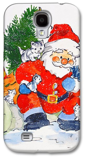 Father Christmas And Kittens, 1996  Galaxy S4 Case by Diane Matthes