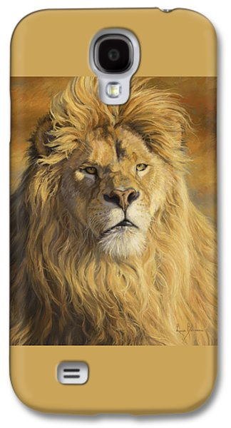 Lion Galaxy S4 Case - Fearless - Detail by Lucie Bilodeau