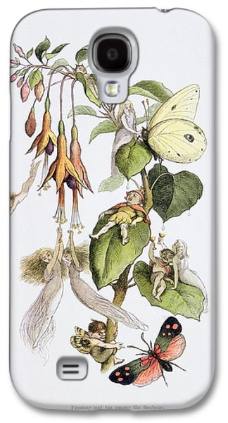 Feasting And Fun Among The Fuschias Galaxy S4 Case by Richard Doyle