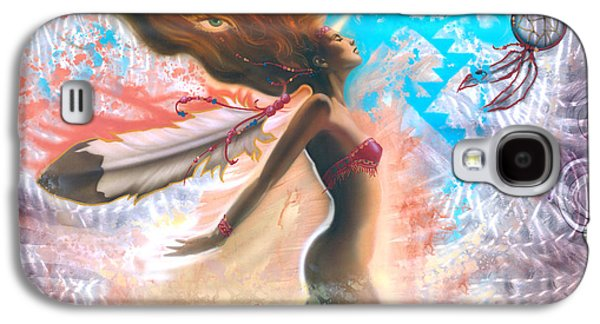 Feather Girl 1 Galaxy S4 Case by Luis  Navarro