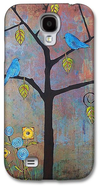 Bluebird Galaxy S4 Case - Feathered Friends by Blenda Studio