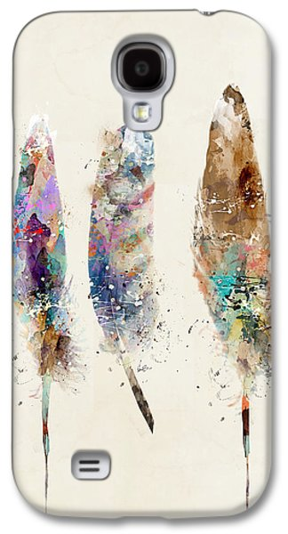 Feathers Galaxy S4 Case by Bri B