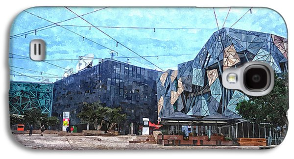Federation Square In Melbourne Australia Galaxy S4 Case by Beverly Claire Kaiya