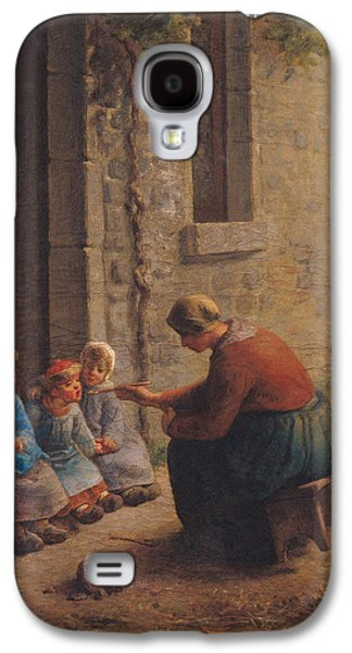 Feeding Young Galaxy S4 Case - Feeding The Young by Jean-Francois Millet
